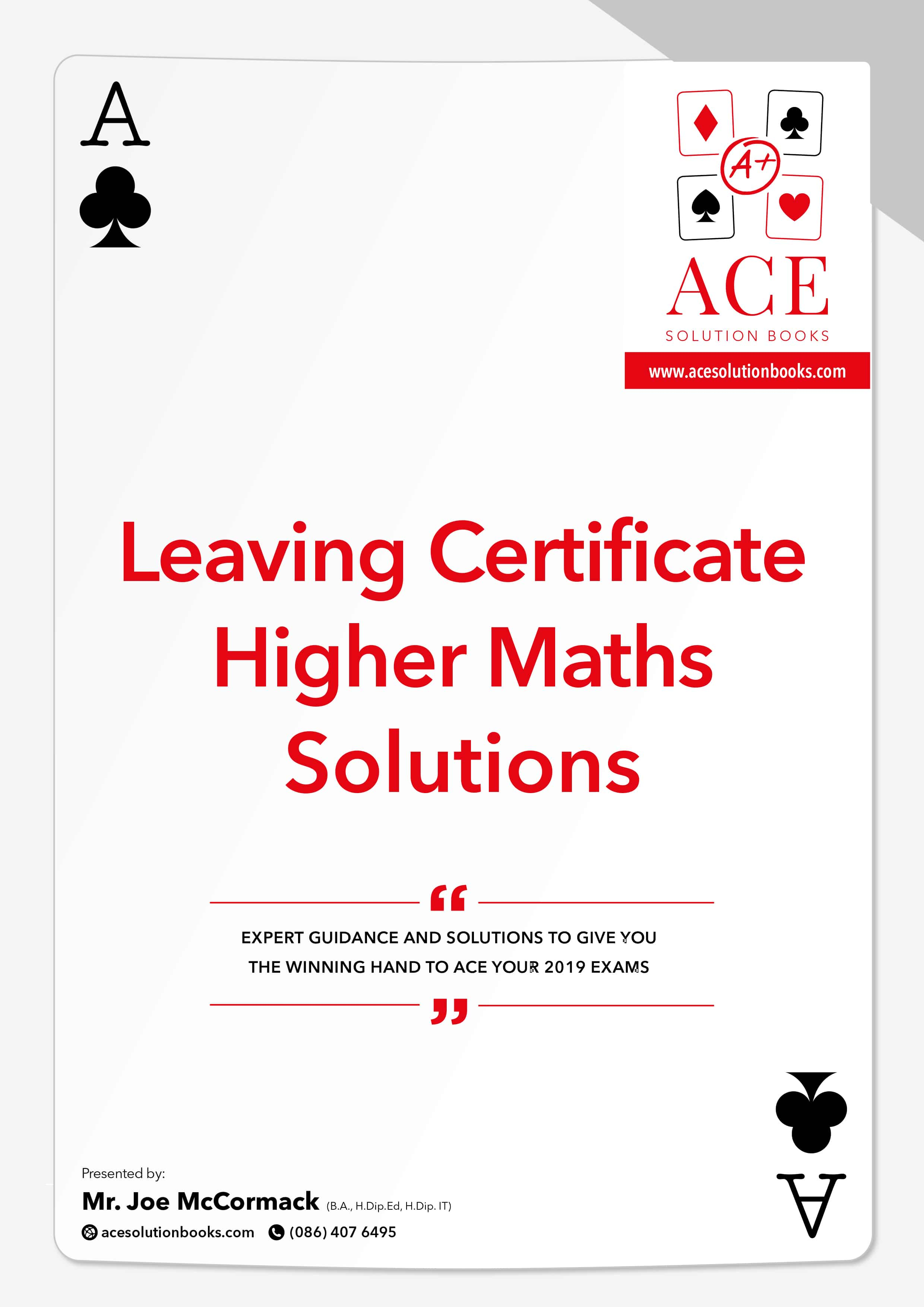 Leaving Certificate Higher Level Maths 2018/2019